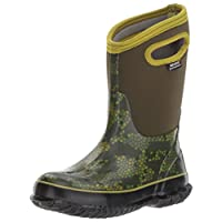 Bogs Mid-Calf Pull On Rain Boots, Axel Print/Moss/Multi, Size 1 M US Little Kid US/US