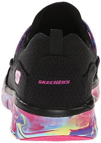 Skechers Synergy-Sparkle and Shine Donna Tessile Scarpa de Passeggio Negro/multi