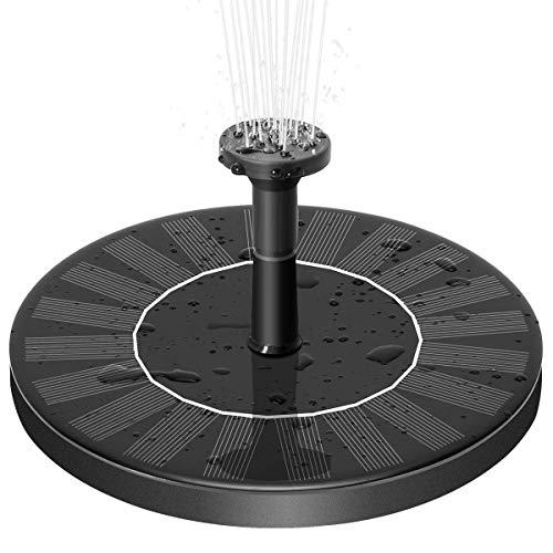 UOKOO Solarbrunnen Teichbrunnen Pumpen Solarpaneel-Set Wasserpumpe Outdoor Vogelbad Bewässerung Tauchpumpe für Teich, Pool, Terrasse, Aquarium, Garten