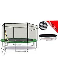 LS-T430-PA14 (GW) LifeStyle ProAktiv - Trampoline de Jardin - 430 cm - 14ft - Fort Filet de Sécurité - 180kg Capasite - TÜV/GS/CE - Model 2017