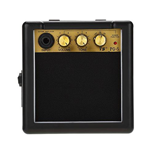 Tbest Verstärker Gitarrenverstärker Mini, PG-5 Hohe Empfindlichkeit 5W E-Gitarren-Lautsprecher mit Lautstärkeregler