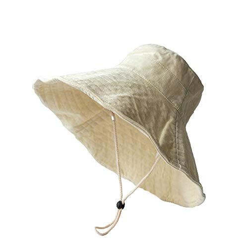 Mode White Fisherman Women's hat Female Xia/Baumwolle Hanf Material/mit verstellbarem Seil/Women's hat Edge Rolled Up weich -