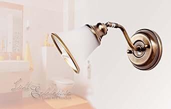 Dekorative Badleuchte in Bronzeoptik 1/1/911 Spiegellicht Jugendstil