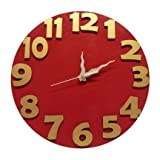 Earth Wall Clock (Red Gold, 12 x 1 x 12 ...
