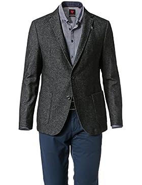 Strellson Sportswear Herren Sakko Polyester Modisch Meliert, Größe: 48, Farbe: Schwarz