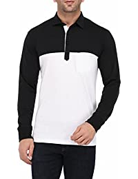 Vivid Bharti Men's Black & White Solid Full Sleeve HIGH Quality Tshirts