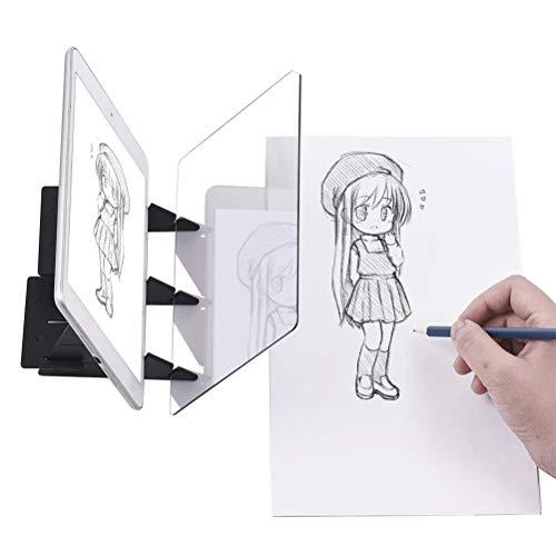 Comtervi Zeichenbrett, Tracing Board Copy Pad Panel Handwerk, Anime Malerei Kunst Einfache Zeichnung Skizzieren Werkzeug Null-basierte Form,Spielzeug 20 * 15cm (Skizzieren Panel)