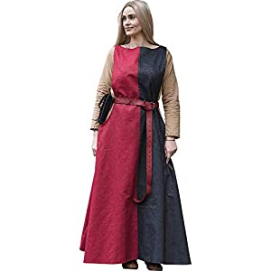 Epic Armoury- Dress Runa-Dark Red/Dryad Green-L/XL vestido, Color (Iron Fortress 33071356)