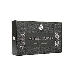 Idea Regalo - Start Makers Set di 32 pennelli per Make-Up con custodia in Cuoio di Lusso e Spugna Blender. Kit di Pennelli professionali per il Make-Up , Pacchetto Perfetto anche come idea regalo, Trucco Kabuki