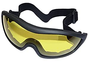 AIRSOFT OPS CORE HELMET LOW PROFILE FA02 GOGGLES SLIMLINE GLASSES YELLOW LENS