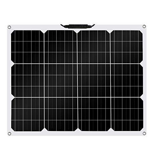 Betop-camp Pannello Solare Fotovoltaico Monocristallino Semirigido Flessibile da 50W per Camper, Barca, Tenda, Auto, Rimorchio, Batteria 12 v o Qualsiasi Altra Superficie Irregolare