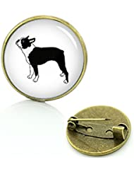 Boston Terrier Perro Metall Pin Badge