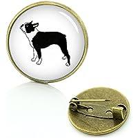 Boston Terrier Perro Metall Pin Badge