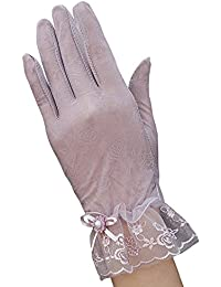 SaiDeng Anti Uv Outdoor Lace Fahrradhandschuhe Taktische Handschuhe Motorradhandschuhe Damen Baumwolle Und Spitze Sommer Sonnenschutz Anti Uv Touchscreen Handschuhe