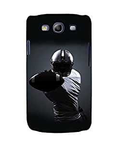 EagleHawk designer-SAM-S3-Neo-e016 3D Rugby Player Back Cover For Samsung Galaxy S3 Neo (Black)
