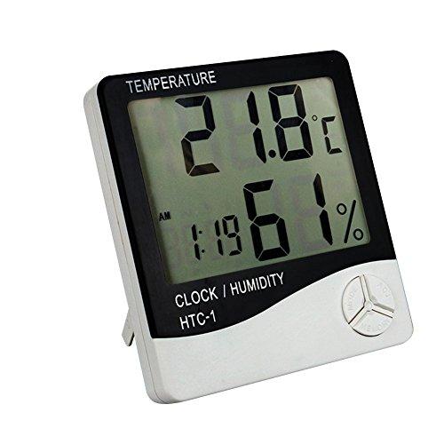 Hop Link Home/Apotheke/Factory Elektronische Digitale Haushalts Innen Thermometer Hygrometer humidiometer Temperaturanzeige mit großen LCD-Bildschirm Alarmierend Uhr