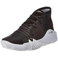 Under Armour Spawn Mid Men's Basketball Shoes, Black (Black/Mod Grey), 43 EU
