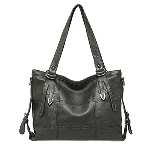 Bolsos Mujer bolsos mujer Plaid diseñador de bolsos de cuero grande Bolso Casual señoras...