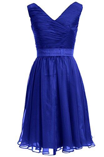 MACloth - Robe - Trapèze - Sans Manche - Femme Bleu roi