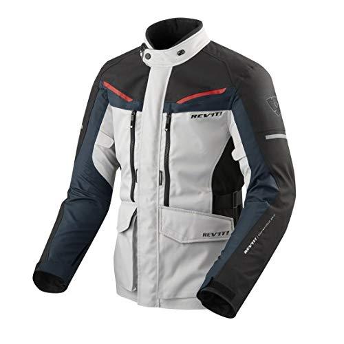 GIACCA MOTO TOURING SAFARI 3 ARGENTO BLU REVIT TG XL