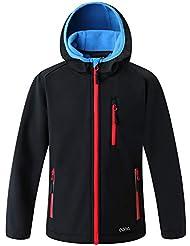 Bekleidung & Schutzausrüstung Softshelljacke mit Kapuze Gr.XXXL anthrazit/leuchtorange Airsoft