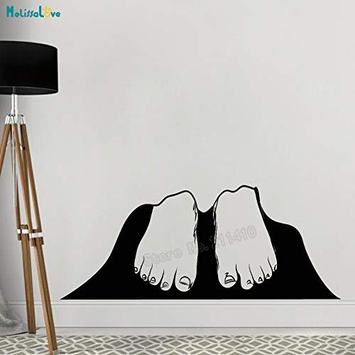 zhuziji Wandtattoos Riesenfüße Kunst Wandbilder 3D Coole Dekoration Für Wohnzimmer Selbstklebende Vinyl Sticke Kaffee Farbe 103x42 cm
