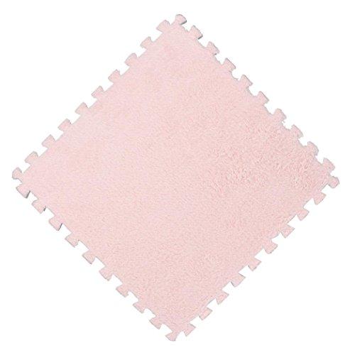 JIANGFU 25X25cm Kinder Teppich Schaum Puzzle Matte EVA Shaggy Samt Baby Eco Boden 7 farben, Schutzmatten Set Puzzlematten | Bodenschutzmatten | Unterlegmatten | Fitnessmatten für Bode (B)