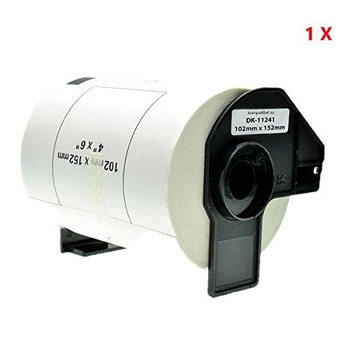 Azprint Versand-Etiketten Kompatibel für Brother DK11241 DK-11241 (102*152mm, 200 Stück) für Brother P Touch QL-Etikettendrucker QL1050 QL1060N / Thermopapier mit Kunststoffhalter