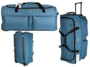 Large Strong Lightweight Travel Holdalls, Wheeled Holdalls, Large Travel Bags with Telescopic Drag Handel