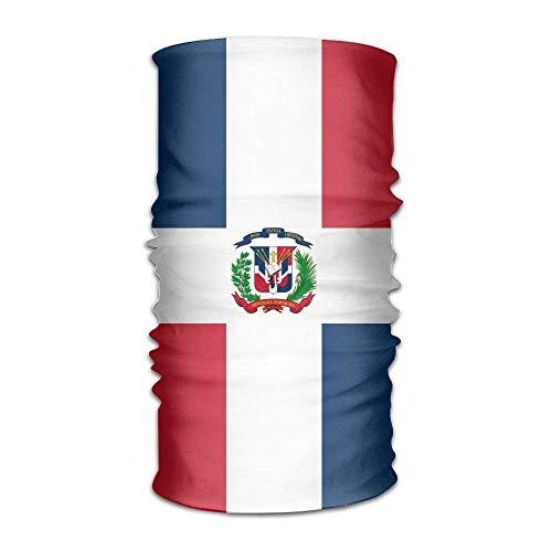 Voxpkrs Mens Womens Headwear Dominican Republic Flag Magic Tube Scarf Facemask Headbands...