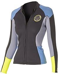 2016 Rip Curl Ladies 1.5mm Dawn Patrol Long Sleeve Neo Jacket Blue/Grey WVE4BW Ladies UK Sizes - 6