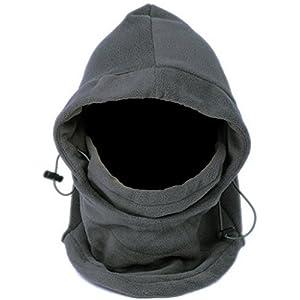 Decus Lukis 6 in 1 Thermal Fleece Balaclava Hood Skimaske Mütze Sturmhaube Windmaske Schlupfmütze Fleece Sturmhaube