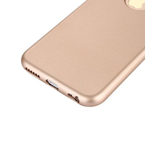 Pour iPhone 6 / 6s, étui en silicone à 360 degrés étanche à l'étanchéité en silicone et housse de protection pour ordinateur JING ( Color : Rose gold ) Gold