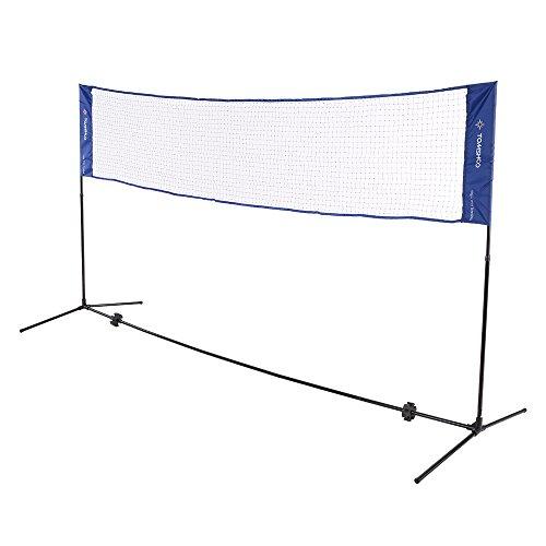 TOMSHOO Badmintonnetz Tennisnetz mit Tragetasche Faltbar Höhenverstellbar 3m / 5m Breit für Federball Tennis Volleyball und Fußballtennis