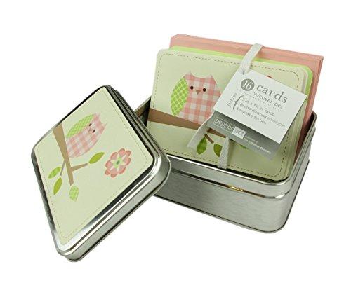 Baby Dusche Thank You/Einladung Karten, Umschläge & Zinn Andenken Container-Mädchen: