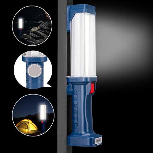 TAOtTAO COB LED Lampe de Poche magnétique pour Le Travail, la Maison, Le Garage, la Voiture d'urgence