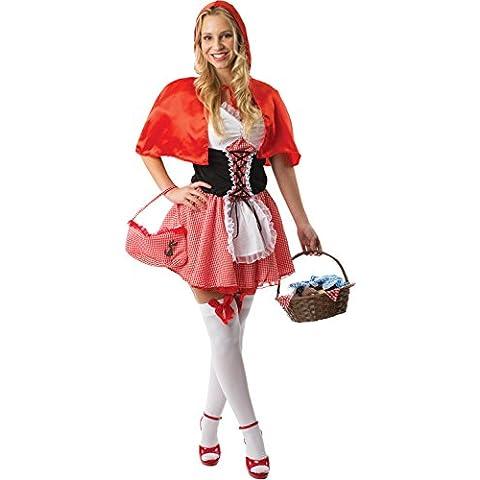 Ladies Sexy Little Red Riding Hood Fairytale Fancy Dress
