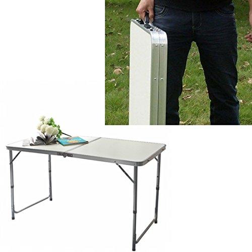 Preisvergleich Produktbild 4FT tragbare verstellbare Trestle Folding Camp Table
