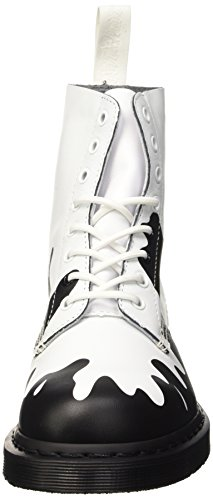 Dr. Martens Pascal, Low-Top Chaussures mixte adulte Multicolore (Black Soft T/white Pain)