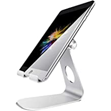 Eono by Amazon - Supporto Tablet, Supporto Regolabile : Universale Stand Dock per 2018 Pad PRO 10.5, PRO 9.7, PRO 12.9, Pad Mini 2 3 4, Pad Air, Air 2, Phone, Samsung Tab, Altri Tablets - Argento