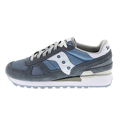 SAUCONY S1108-678 SHADOW ORIGINAL azzurro bianco scarpe donna sneakers 37.5