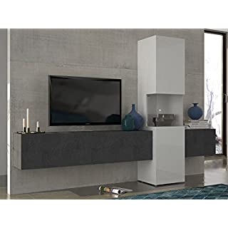 möbelando Wohnwand Mediawand Wohnzimmerschrank Fernsehschrank TV Schrank Incontro I