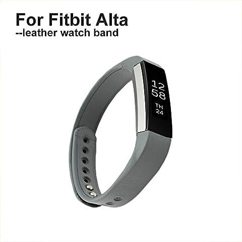 Fitbit bandas de alta pinhen piel reloj banda reemplazo accesorio pulsera con hebilla de metal para fitness Rastreador de