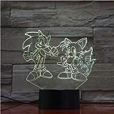 Luce notturna riccio in acrilico con decoro a colori Touch Home Decor