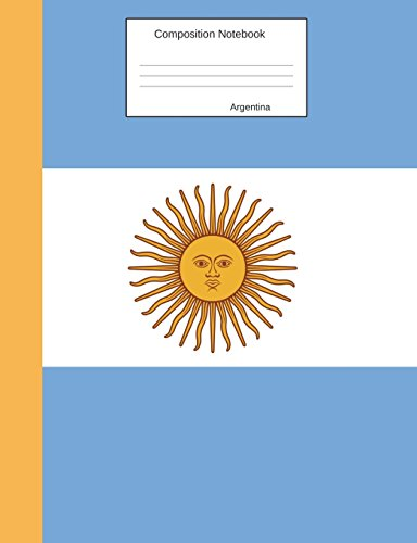 Argentina Composition Notebook: Graph Paper Book to write in for school, take notes, for kids, students, teachers, homeschool,Argentinian Flag Cover