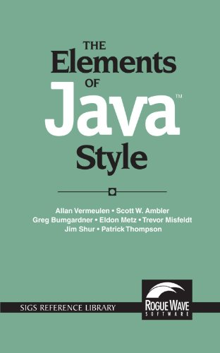 The Elements of Java™ Style (SIGS Reference Library)