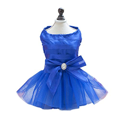 Welpen Kleid Sommer Pet Bow-Knoten Polyester Party Tutu Rock ()