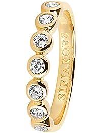 53b1bb5d125f Sif Jakobs Jewellery Damenring Sardinien Sette Silber Vergoldet  SJ-R11186-CZ(YG)