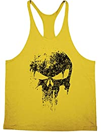 a2ebb1f01ef024 Cabeen Mens Skull Print Tank Tops Stringer Bodybuilding Workout Gym  Sleeveless MuscleShirts