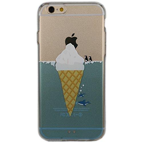 Cover iPhone 5/5S/SE, TrendyBox Cute Case Cover per iPhone 5 5S SE con Vetro Temperato Pellicola Protettiva (Angelo e Coniglio Rosa) Pinguino Squalo e Gelato